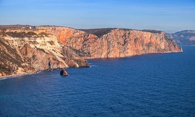 Fiolent rocks on coast of Sevastopol