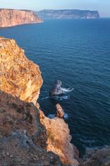 Fiolent rocks formation, Vertical photo