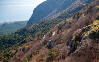 Coastal mountain landscape. Crimea