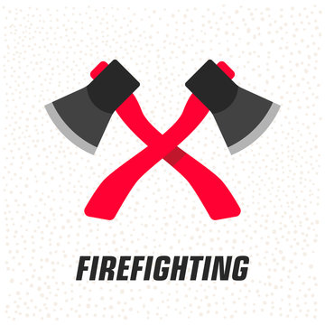 Firefighting equipment. Emergency service. Safety concept. Vector Icon.