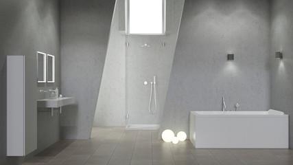 Modernes Design Bad mit Beleuchtung