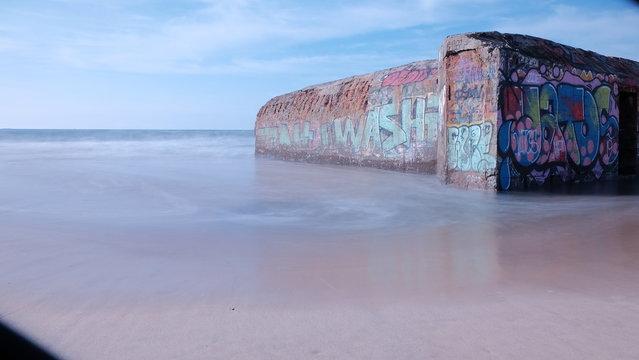 blockhaus sur la plage de capbreton