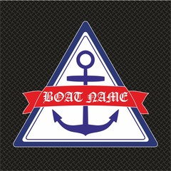 Anchor. Maritime related objects. EPS format vector illustration. It can be used for various printing drawings, pillow, towel, quilt, carpet, rug, fabric, textile, flag, t shirt and boat decoration.