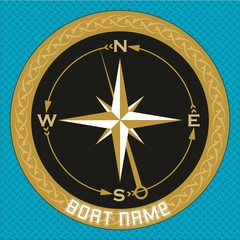 Compass. Maritime related objects. EPS format vector illustration. It can be used for various printing drawings, pillow, towel, quilt, carpet, rug, fabric, textile, flag, t shirt and boat decoration.