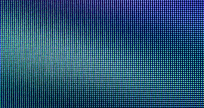 Extreme closeup of LED IPS panel pixels