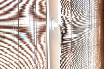Straw natural blinds, jalousie for background