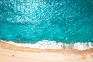 Canvas Prints Countryside Aerial view of summer beach and ocean landscape . Free space for your decoration.