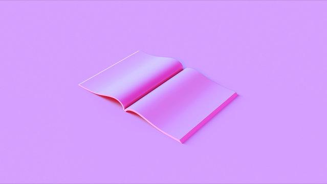 Pink Open Magazine 3d illustration 3d render