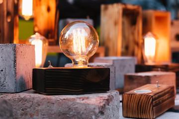 Vintage decorative light bulbs lamps