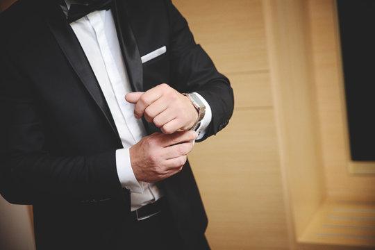 Man preparing for a meeting. Businessman