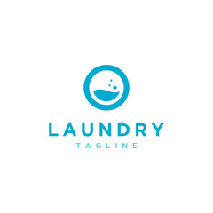 laundry vector logo design