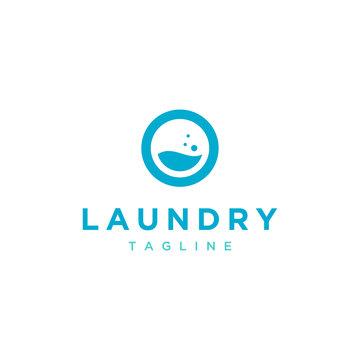 laundry vector logo design