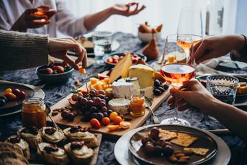 Spoed Foto op Canvas Wijn Dinner party