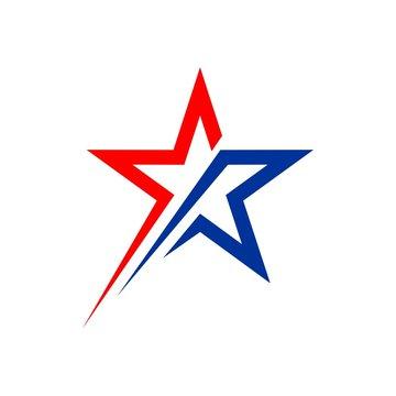 American Star vector Logo Template
