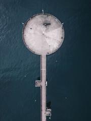 A pier in the ocean