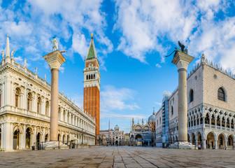 Venedig Markusplatz am Morgen