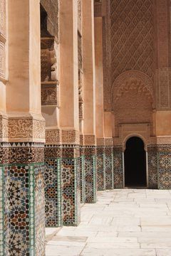 passageway with mosaics
