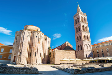 Church of St Donatus and Roman Forum in Zadar (Croatia)