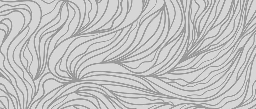 Waved pattern. Abstract texture with lines. Background with stripes and waves. Print for banners, posters or flyers. Black and white illustration