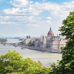 Printed kitchen splashbacks Budapest Budapest, Hungary. May, 2019. The building of the Hungarian Parliament. The symbol and business card of the city, located on the banks of the Danube. Spring. Tourism and travel.