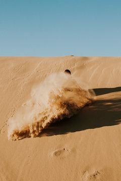 sand dune is disturbed