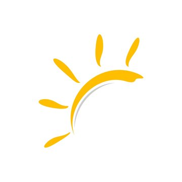 Yellow Sun Vector Logo Template