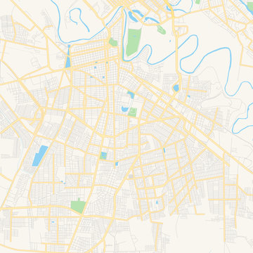 Empty vector map of Matamoros, Tamaulipas, Mexico