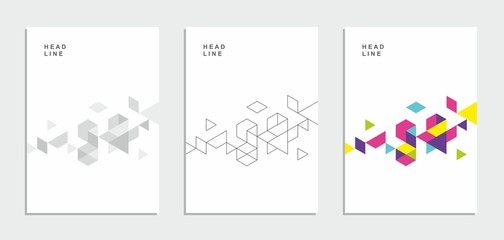 Obraz Abstract geometric technological flyer, brochure, corporate identity. - fototapety do salonu