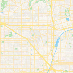Empty vector map of Anaheim, California, USA
