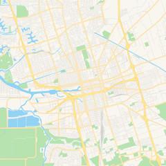 Empty vector map of Stockton, California, USA