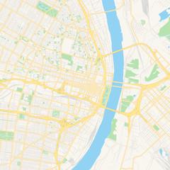 Empty vector map of St. Louis, Missouri, USA