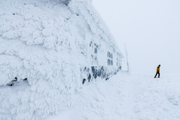 Ice house at meteorological station