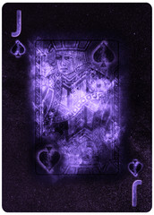 Jack of Spades playing card Abstract Background