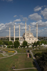 Wall Murals Adana Sabanci Mosque and Adana Central Park. Adana, Turkey.