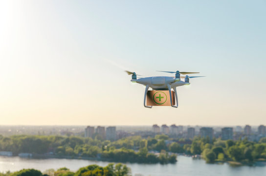 Drone delivers medical equipment, medicine delivery via drone