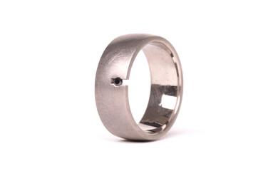 Paladium wedding ring isolated