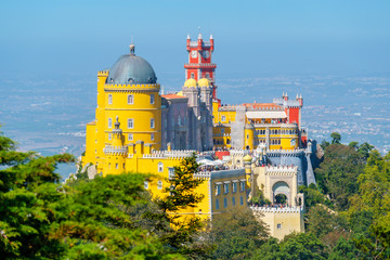 Pena Palace in Sintra. Portugal
