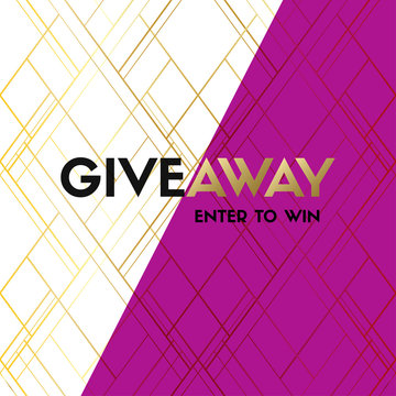 Giveaway vector banner. Vector template for social media contest