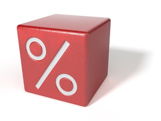 Red box with interest rate percentage