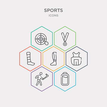 simple set of batter, home run, chest guard, shin guards icons, contains such as icons ankle, golden medal, dartboard with dart and more. 64x64 pixel perfect. infographics vector