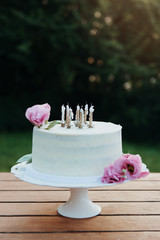 Beautiful cake on the table