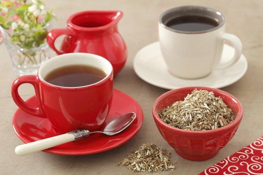 White horehound tea (Marrubium vulgare)