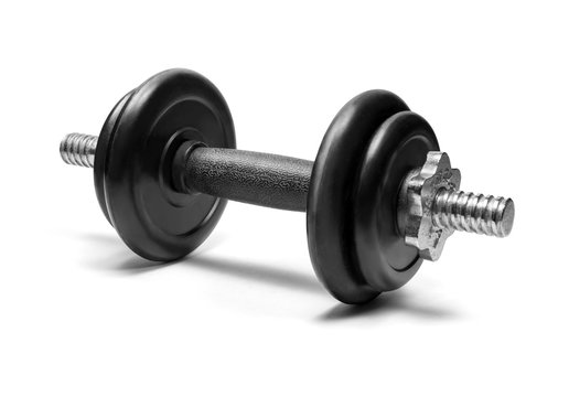 Dumbbells isolated on white background with clipping path