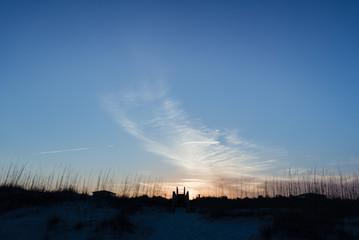 Foto op Canvas Onweer East Coast Sunset