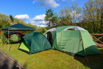 写真素材:キャンプ、テント、キャンプ場、アウトドア