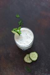 Ayran, homemade yogurt drink