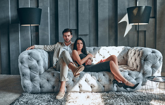 Stylish couple at home