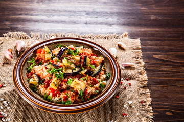 Couscous with sauce and vegetables