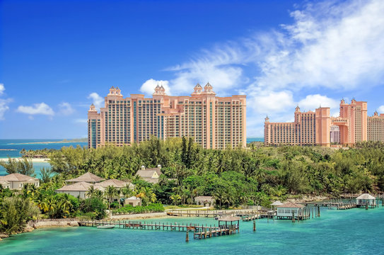 View of Paradise Island in Nassau, Bahamas.