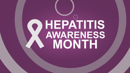 Hepatitis Awareness Month an annual campaign raising awareness of viral hepatitis. Hepatitis Testing Day. Can be used for Poster, card, banner or backgrounds. Design illustration.